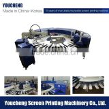 Factory price auto socks and gloves screen printing machine one color 24 stations for sale