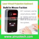 bluetooth wireless keyboard mouse with LED display virtual laser keyboard for android smartphone,tablet pc and laptop