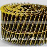 screw/smooth shank wire coil nails/High quality low carbon Steel Wire Wooden Pallet Screw Coil Nails for sale