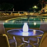 LED egg-shaped rechargeable lamps Cafe bars circular lamp Bar electric candles Light a night light party