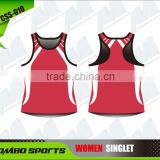 Custom made razor back ladies singlet