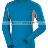 Drop&Free Ship 2014 summer Cotton Men's Clothing 100 % plain cotton color t shirts long sleeve men