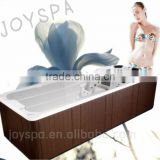 Most Popular Christmas SPECIAL OFFER outdoor dual zone hydro hot swim pool / swim spa with powerful stainless steel jets