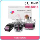 Titanium 3 in 1 derma roller for face dermaroller manufacturer price