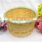 feida 596 natural nice traditional chinese bamboo basket/ bamboo waste basket for goods/ foods