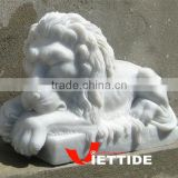 Sleeping Marble Lion Sculpture
