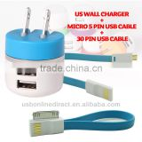 dual usb charger usb travel charger usb home charger/universal travel adapter with usb charger 5V1A For samsung HTC iphone 5