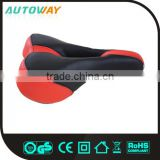 Black Red Cool Leather Bike Saddle
