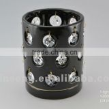 Ceramic T-light Candle Holder with crystals from swarovski