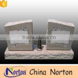 American style granite monument double square shaped headstone tombstone NTGT-019L