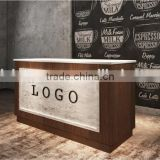 Classical reception desk modern shop counter design mobile shop counter(BG11-M103)