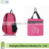 2014 promotional foldable soft backpack lightweight folding travel backpack, Pink(CF-209)