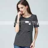 Summer wholesale maternity T-shirts for pregnant women cotton breathable nursing tops outdoor breastfeeding clothing