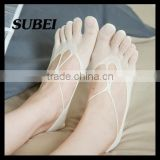 Shallow mouth cotton socks toe socks summer ultra-thin non-slip invisible socks