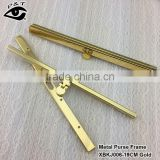 19CM Gold Color Wallet Coin Clasp Metal Purse Frame for handbags accessories