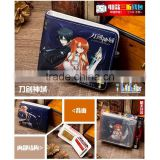 Popular Game Sword Art Online Cartoon PU Purse Good Quality Cosplay Anime Short Button Wallet