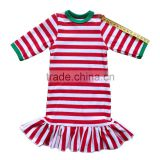 18 inch cute accessories doll dress 3/4 sleeve red and white strap ruffle hem for christmas day