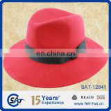 custome red classic Borsalino felt hat wholesale