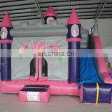 Inflatable princess castle combo with slide