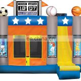 All Star Arena inflatable bouncer twist / inflatable sports bouncer with slide / inflatable bounce castle sports