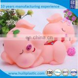 Custom plastic animal pig toy,OEM Cartoon plastic pig toys,Realistic plastic animal toys pig money box