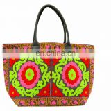 Suzani Embroidery Large Woman Handbags Indian Cotton Shoulder Bag Boho Tote Purse Shopers