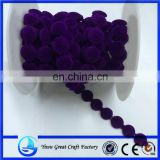 Fashion new flocking cotton round wire bead Clothing water adornment bead chain