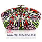 Newest colorful Crystal Evening Clutch Bag