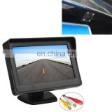 2017 hot Mini Wifi Camera PZ601-C TFT LCD 2 Video Input 4.3 Inch Parking Monitor 2 in 1 with 648*488 Pixels Rear View Camera
