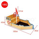 Kids Wooden Boat Shape Sandpit