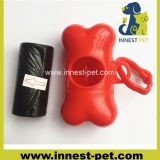 Bone shaped dog poop waste plastic bag dispenser