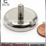 70 LB Holding Power Neodymium Cup Magnet with Male Threaded Stud /Magnetic Round Base