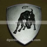 High quality fashionable zamak die casting fancy logo buckle tags