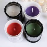 Small Black Sealed Cans Glass Jar Scented Soy Wax Candles Wholesale