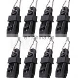 huiquan12pc Tarp Clips Heavy-Duty with Carabiner - Sliding-Lock Grip - Great for Awnings Farming Garden Marine Automotive & More