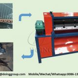 Radiator recycling machine separate coppper tubes from aluminum foil