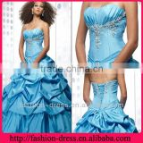 2013 Cheap Pick Up Skirt Pleasted Bodice Beaded Emboriery Lace Up Back Quinceanera Dresses Gown