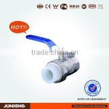 PERT pipe fittings single female threaded brass ball valve for underfloor heating system