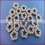 10mm Full Rhinestones Plum 10mm Diamond Slide Plum Flower Charm Metal Jewelry Crafts Wholesale