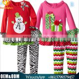 Wholesale new arrival Christmas outfits adorable baby Christmas clothing set cute girls fall boutique outfits