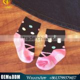Cute design colorful dot children socks spring & autumn pure cotton non-slip baby socks