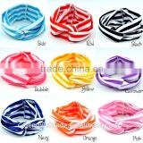 wholesale princess headband cotton stripe kids hair accessories baby girls boutique hairbands