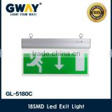 led emergency exit light with 18 led right lamp