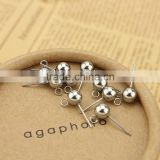 S834 Stainless Steel Ball with Loop Earring Posts Ear studs                                                                         Quality Choice