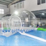Transparent Inflatable Bubble Room , inflatable lawn tent For Picnic