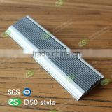 aluminum stair tread nosing with colorful rubber strip with high quality                                                                         Quality Choice