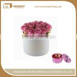 New design gold logo flower box packaging
