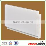 White Waterborne Paint PVC Window Shutter Profile
