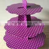 Wholesale Cardboard Cupcake Stand Appropriate for Birthday Party, Baby Shower or Wedding