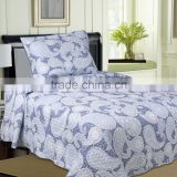 Manufacturer china Whole flower quilts pujiang factory printed quilts bedding sets quilts for Ameriacn market